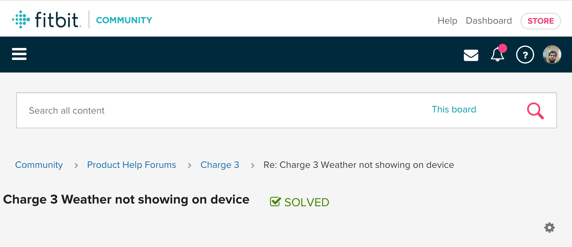 Solved: Charge 3 Weather not showing on device - Fitbit