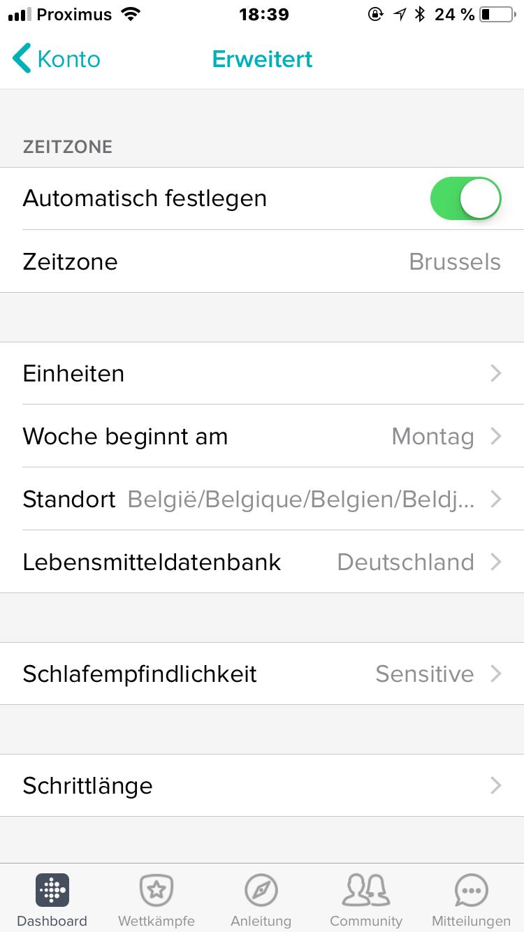fitbit charge 2 uhrzeit einstellen