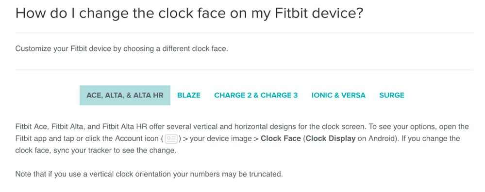 Solved: How to change orientation - Fitbit Community