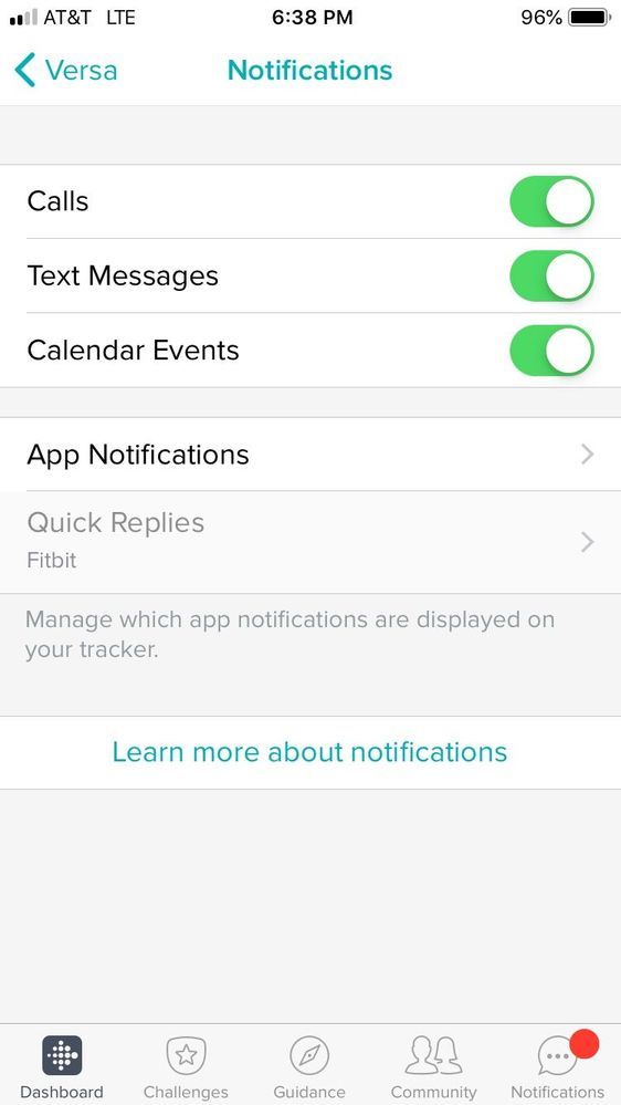 Are Quick Replies available on iOS? - Fitbit Community