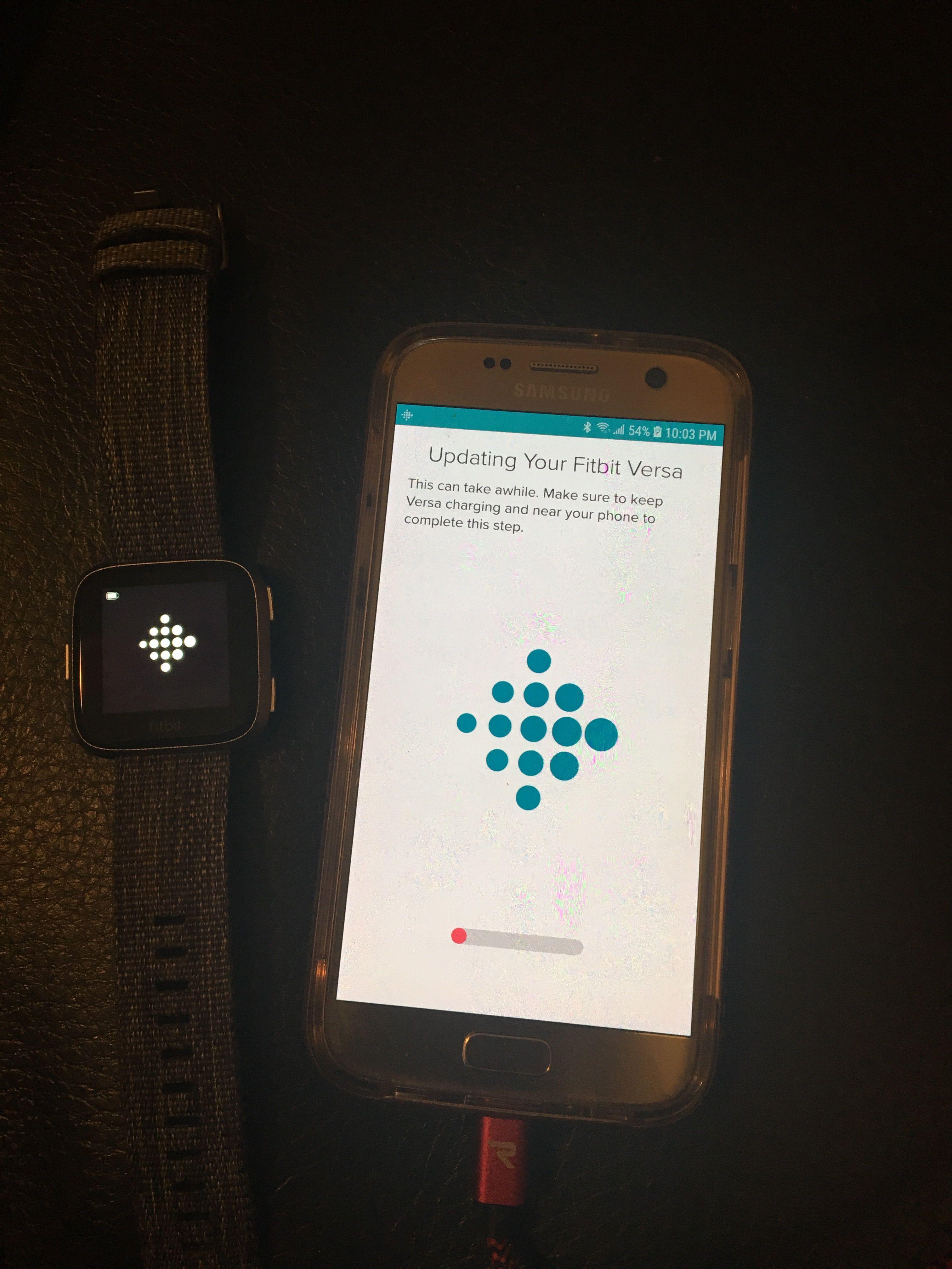 fitbit alta hr won't update firmware