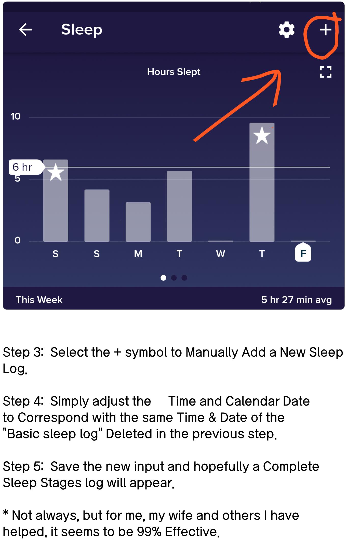 Versa not logging sleep stages - Fitbit Community