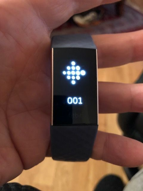 Solved: Charge 3 showing 001 error - Fitbit Community
