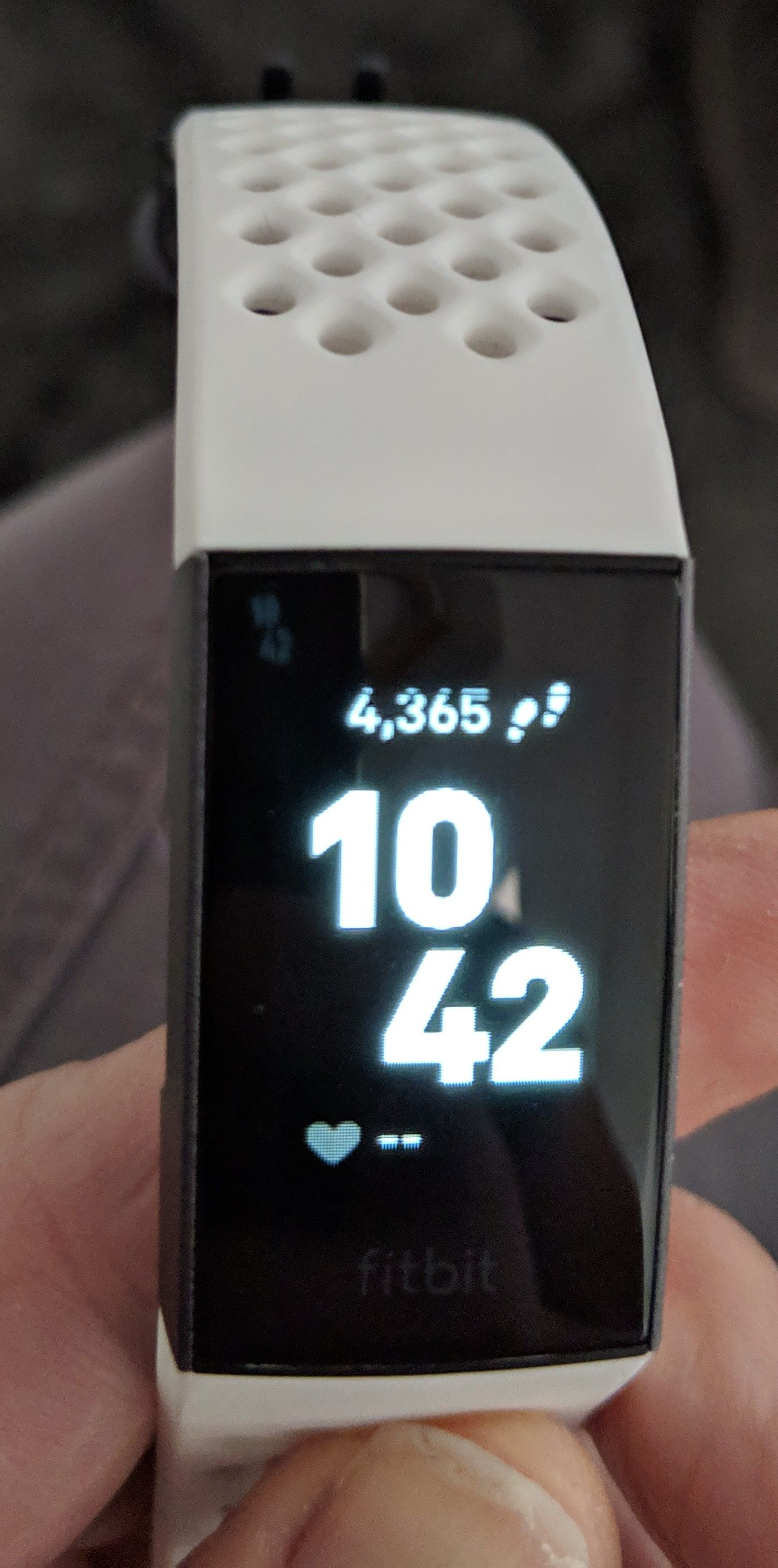 Solved: Charge 3 - Black line across top of screen - Fitbit
