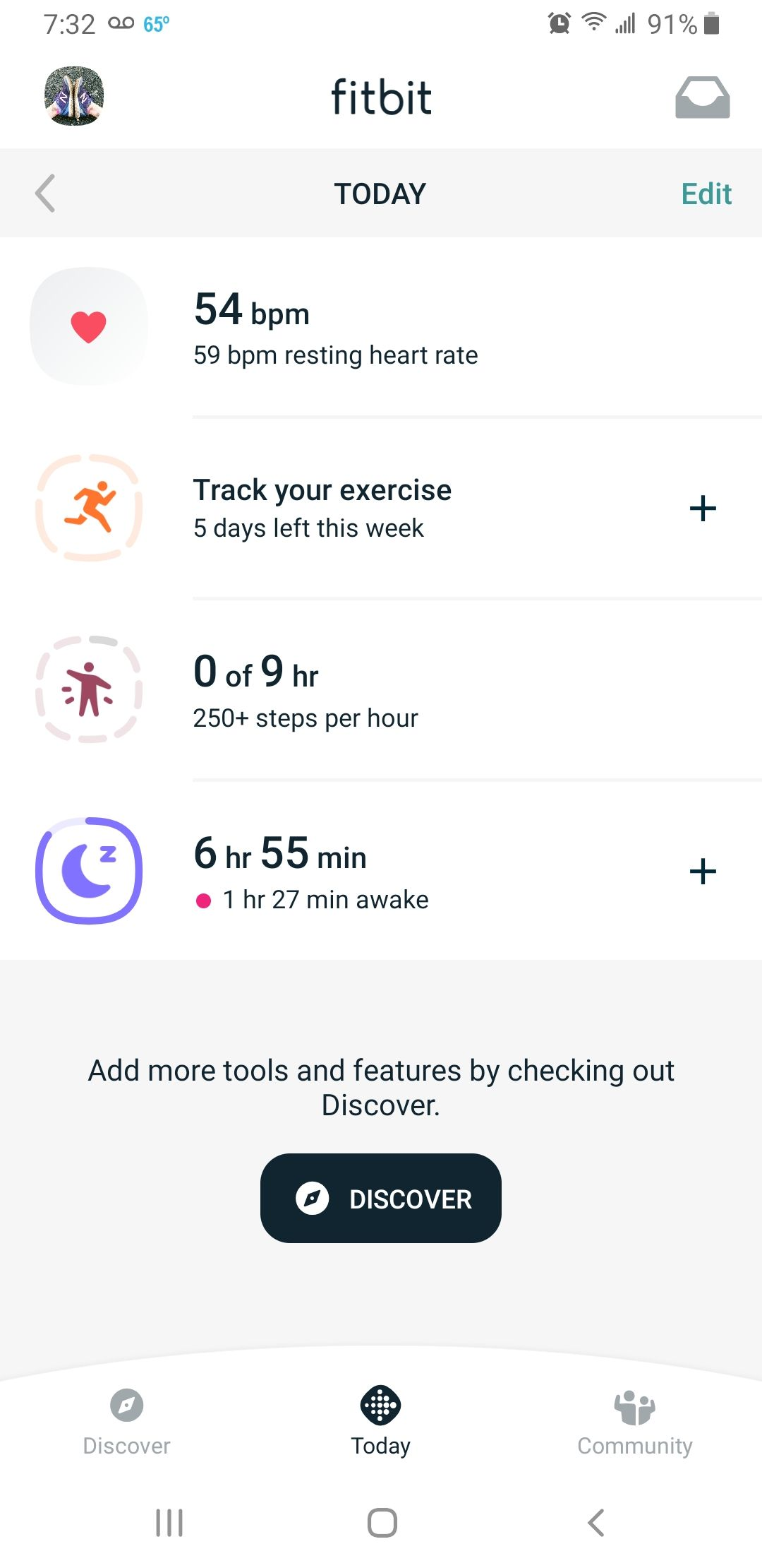 Fitbit app new Dashboard - Android - Fitbit Community
