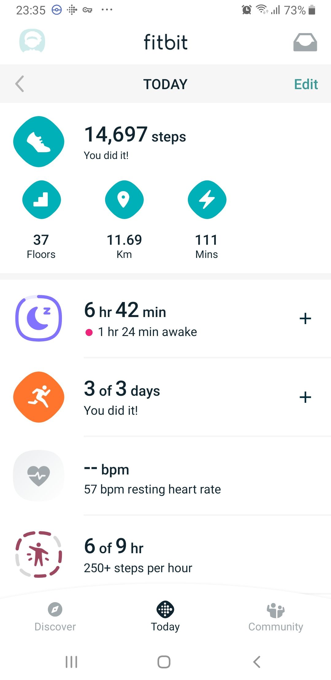 Solved: Set alarms on Charge 3 - Fitbit Community