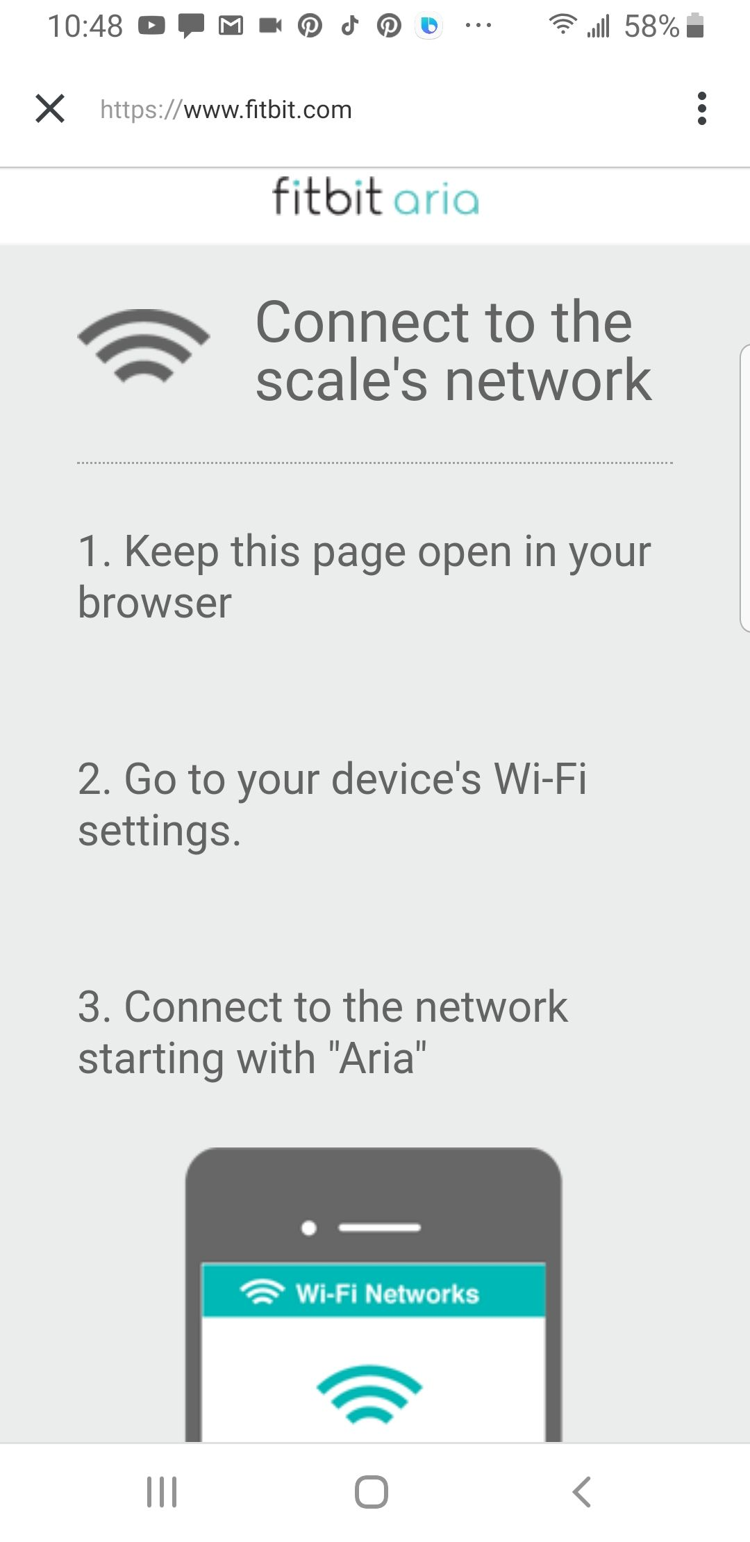 Can't change WIFI address on Aria - Fitbit Community